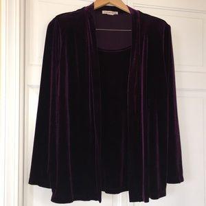 2-piece set Mock-Layered Cardigan and Skirt XL